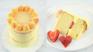 Lemon Strawberry Cake Recipe! - CAKE STYLE