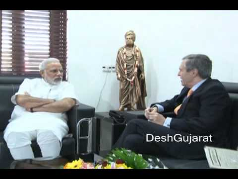 German Ambassador to India meets Gujarat Chief Minister Shri Narendra Modi