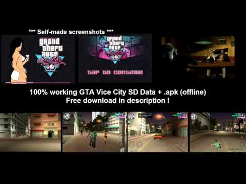 gta vice city sd data + .apk tested ,works 100% youtube