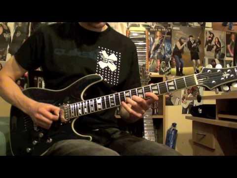 Hammerfall - Secrets Guitar Solo - New Schecter C-1 Custom + Bareknuckle Pickups