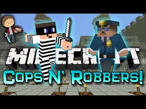 Minecraft: COPS N'ROBBERS 3.0! Mini-Game w/Mitch & Friends!