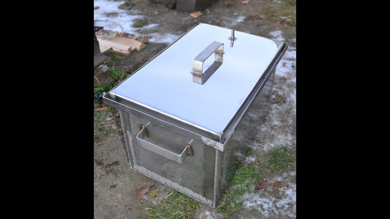 Как сделать коптильню с гидрозатвором для горячего копчения