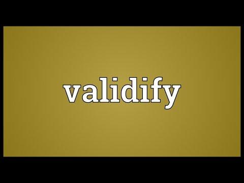 Header of Validify