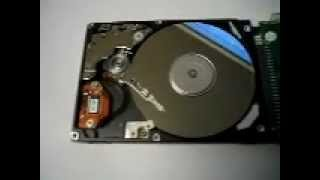 Hard drive 'click of death' -- see it in action