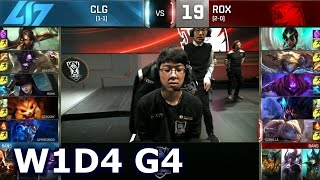 CLG vs ROX - Worlds 2016 W1D4 Group A | LoL S6 World Championship Week 1 Day 4 CLG vs Rox Tigers