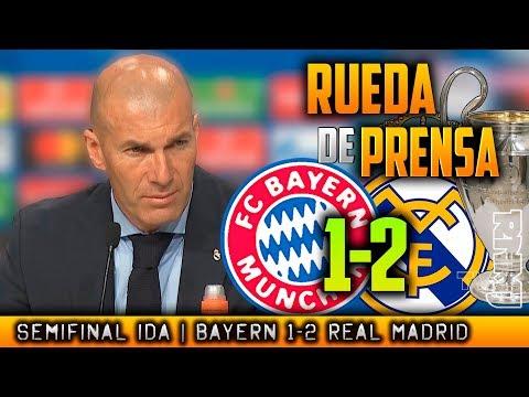Bayern Munich 1-2 Real Madrid RUEDA DE PRENSA de ZIDANE post SEMIFINAL Champions (25/04/2018) thumbnail