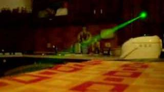Green Laser Beam indoor