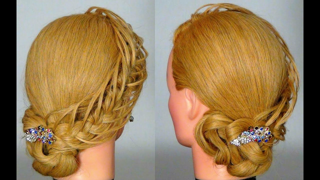 Прически с плетением на длинные волосы своими руками