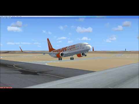 FSX - Boeing 737-800 Perfect Touchdown - Easyjet Airlines - HD