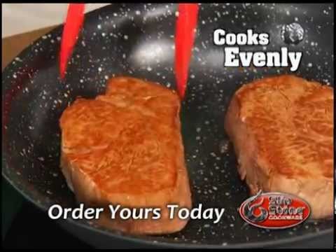 slip stone cookware as seen on tv youtube. Black Bedroom Furniture Sets. Home Design Ideas