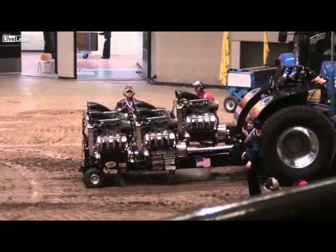 INSANE 5 V8 engines Black Widow Truck pull 4-5 tonnes