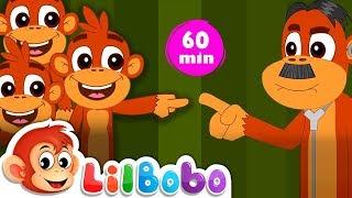 Five Little Monkeys Jumping On The Bed   Flickbox Kids Songs and Little Bobo Popular Nursery Rhymes