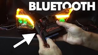 Bluetooth Nissan GTR Headlights powered by Ride Controller