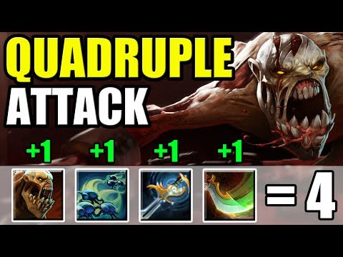 4 Auto attacks in a row. Unique DotA 2 Build. Quadruple Attack in Ability Draft