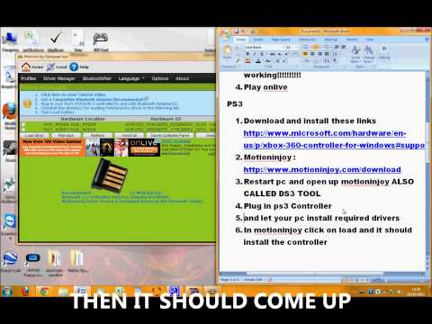 How to connect and use Xbox 360/ PS3 Controller on Onlive PC