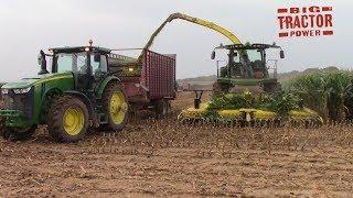 2018 Corn Silage Harvest with 616 hp John Deere 8600 Forage Harvesters
