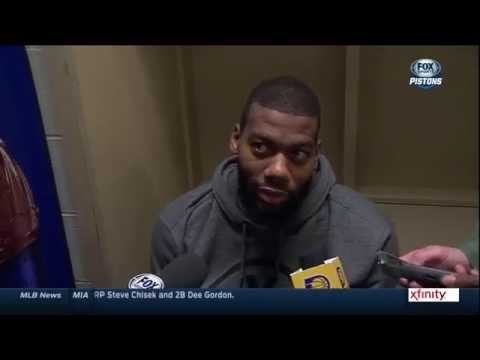 Greg Monroe goes silent when asked what's different about the improved Pistons