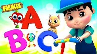 Learning Nursery Rhymes, Kids Videos, ABC , 123 , Colors , Shapes - Farmees