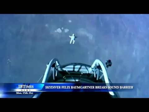 Skydiver Felix Baumgartner breaks sound barrier