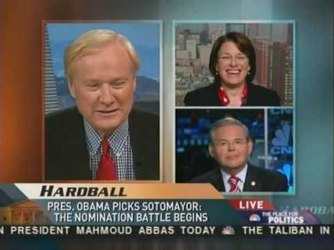 Menendez on MSNBC Hardball discussing Judge Sotomayor's Supreme Court nomination