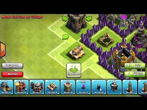 Clash of clans nouveau villages (4mortiers)