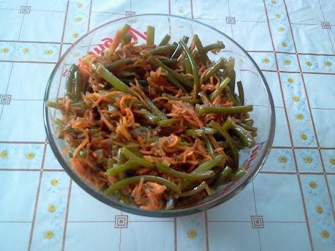 Салат из чесночных стрелок с морковью по корейски