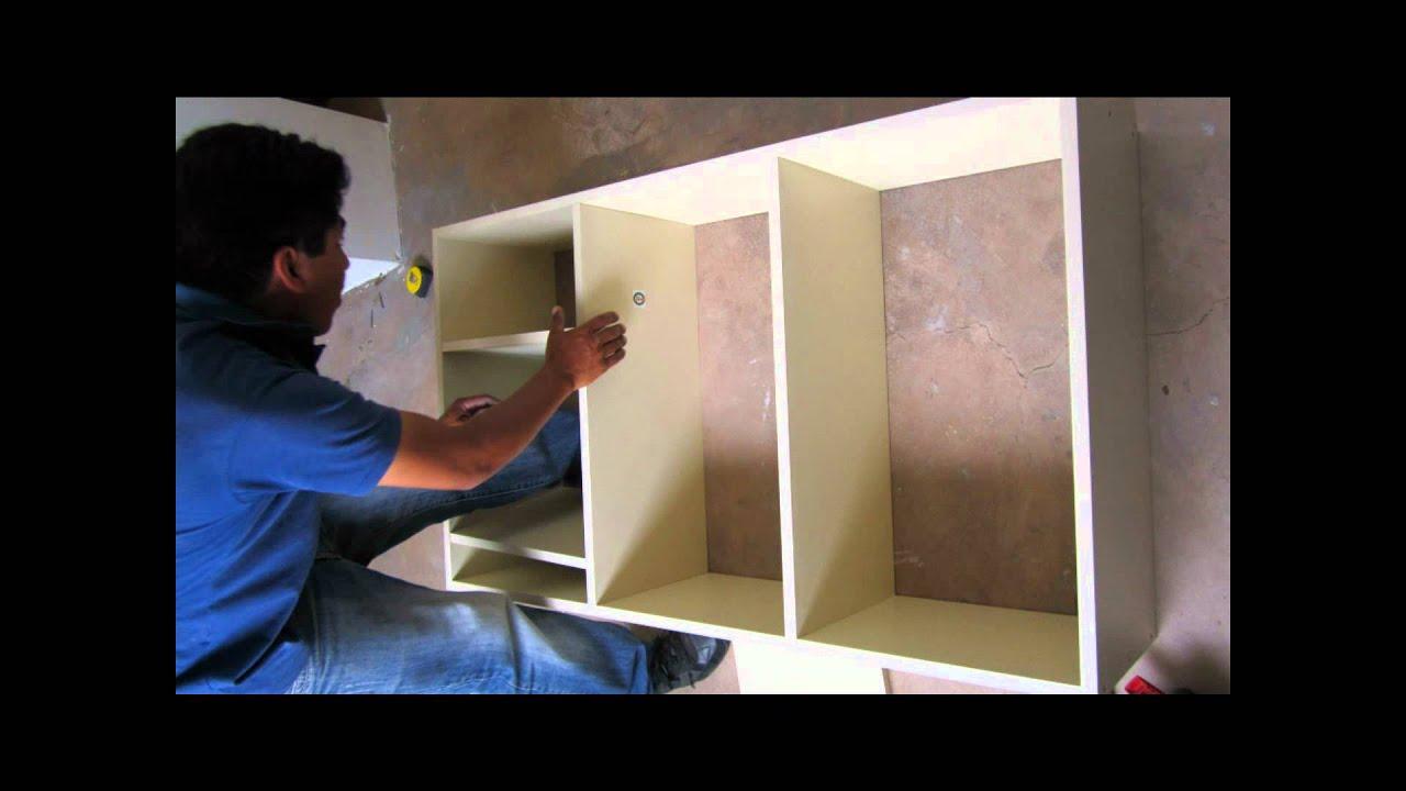 Mueble de cocina melamine youtube for Como hacer una cocina integral