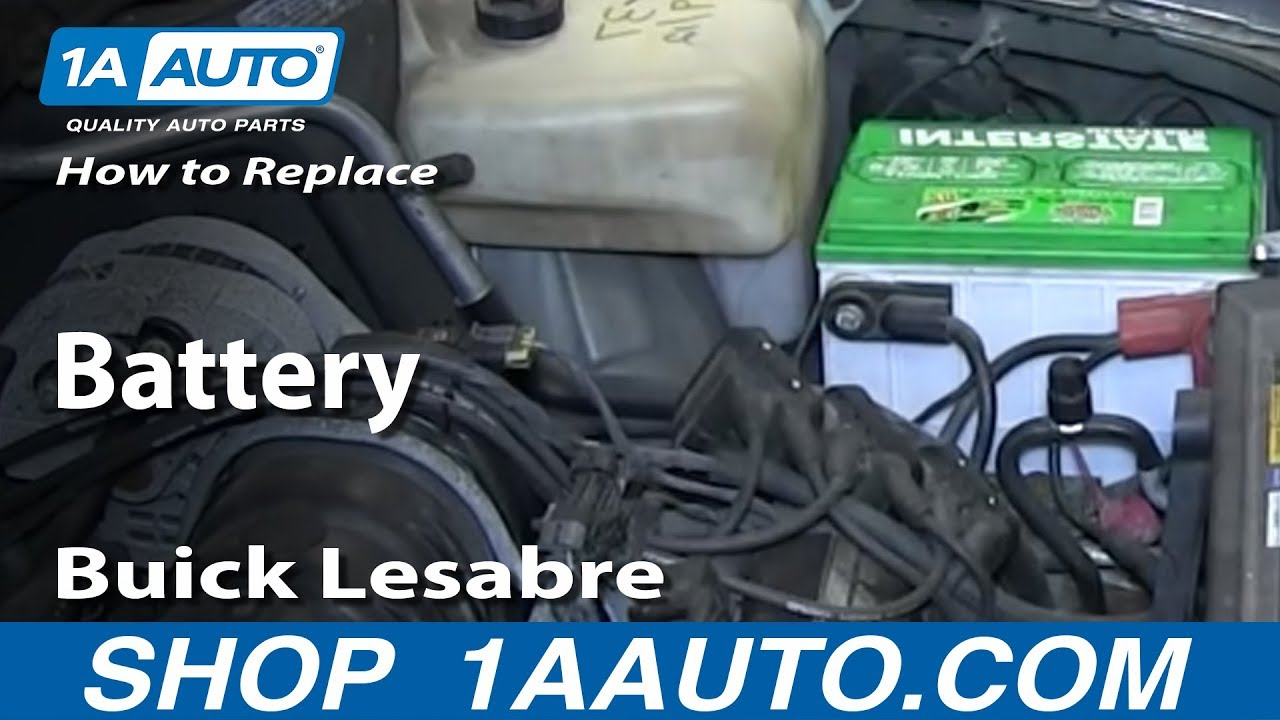 replace install dead battery   buick lesabre