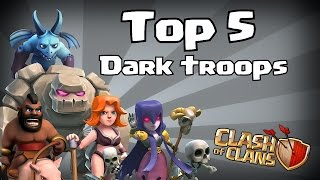 Clash of clans - Top 5 Dark troops! (8 bit edition)