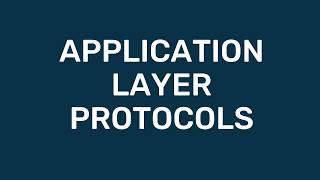 A-Level Comp Sci: Application Layer Protocol