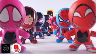 McDonalds Spider-Man Into the Spider-Verse December 2018 Happy Meal Complete Toy Set Unboxing