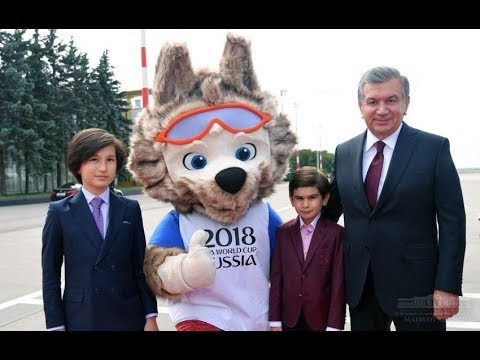 Шавкат Мирзиёев прибыл в Москву для участия в церемонии открытия чемпионата мира по футболу.