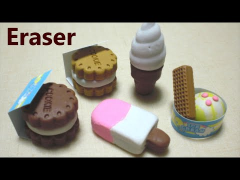 Ice cream shaped eraser making kit