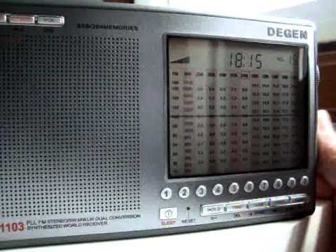 Radio New Zealand International with Degen 1103 - 9615KHz