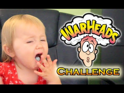 Warheads Challenge: My Kids Eat Warheads For The First Time