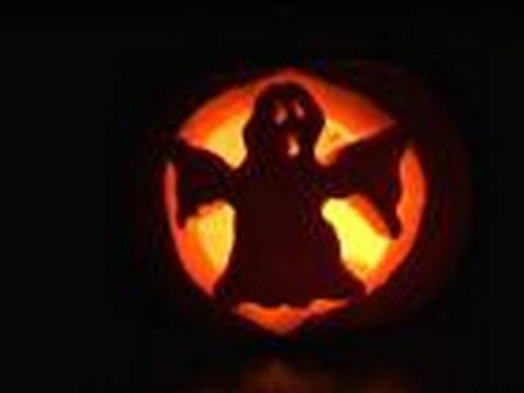 How To Carve A Ghost Pumpkin Lantern Youtube