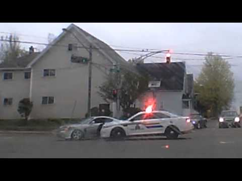RCMP vehicle involved in M.V.A. Church & Mountain
