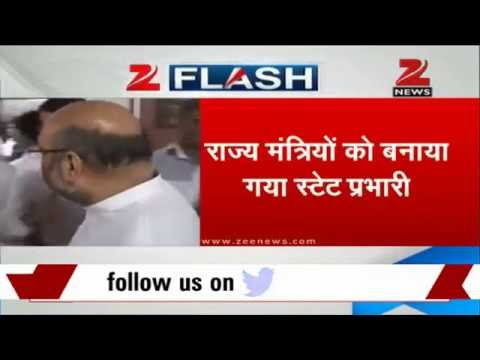 BJP president Amit Shah appoints ministers as in-charge of states
