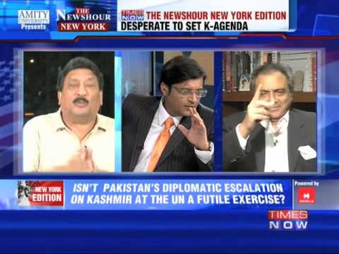 The Newshour Debate from New York: Nawaz Sharif's Kashmir bogey - Full Debate (26th September 2014)