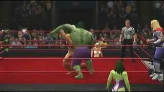He-Man/Superman w/She-Ra vs. Hulk/Thor w/She-Hulk (Request)