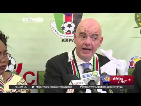 FIFA president begins first official visit in Juba