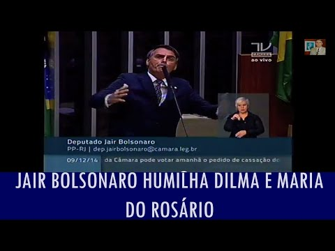 Jair Bolsonaro humilha Dilma e Maria do Ros�rio