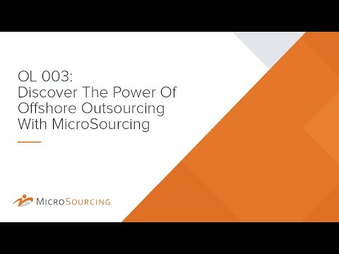 OL 003: Discover The Power Of Offshore Outsourcing With Microsourcing