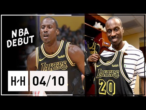 32 Yr-Old Andre Ingram Full NBA DEBUT Highlights vs Rockets (2018.04.10) - 19 Pts, MVP Chants!