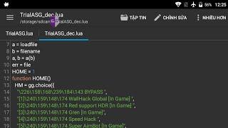 Decryption Script || Test Giải Mã Kịch Bản Mã Hóa Nhị Phân (LuaR) Bằng Android