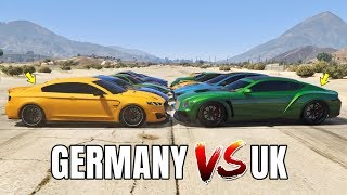 GTA V Online: GERMANY VS UNITED KINGDOM (WHICH IS FASTEST?)