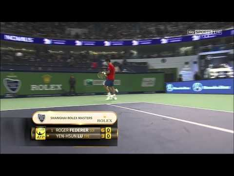[HD] Roger Federer vs Lu Yen-Hsun Shanghai 2012 Full Match