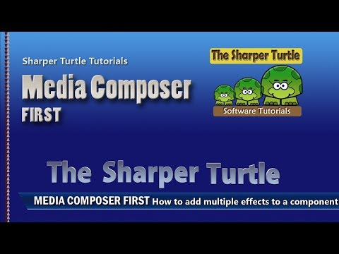 Media Composer First - How to add multiple effects to a component