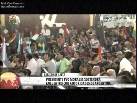 Salta de Argentina recibe con emotividad a presidente Evo Morales- Bolivia