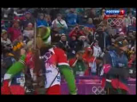 140211 Биатлон Гонка преследования Женщины Олимпиада Сочи 11 02 2014